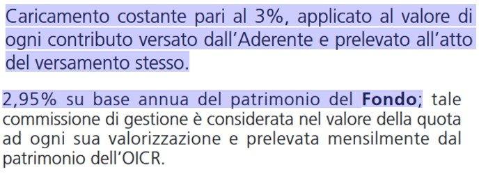costi fondi pensione